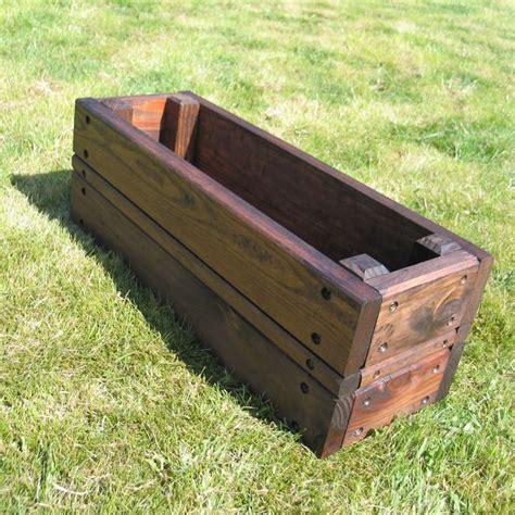 ideas  wooden planters  pinterest wooden planter boxes wooden flower boxes