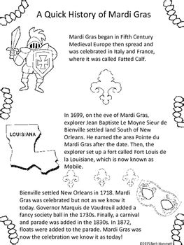 mardi gras writing activities  coloring sheets tpt