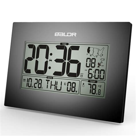 atomic desk clock lcd digital atomic time zone desk alarm clocks calendar