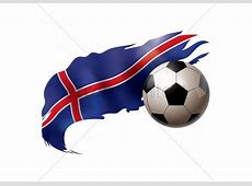 Soccer ball with iceland flag Vector Image 1817756