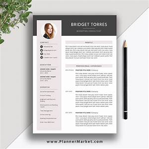 Modern Resume Template 2021  Creative Cv Template  Word