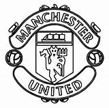 Manchester Football United Coloring Pages Soccer Sports sketch template