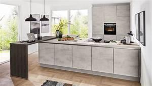Arbeitsplatte Küche Beton : nobilia l k che mod riva pg2 in beton grau 892 k chen ~ Watch28wear.com Haus und Dekorationen