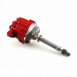 Chevy Sbc 350 Bbc 454 65k Coil Hei Electronic Distributor W Tach Drive Red Cap