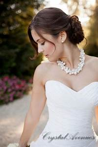 bridal necklace chunky pearl wedding jewelry rhinestone With pearl necklace with wedding dress