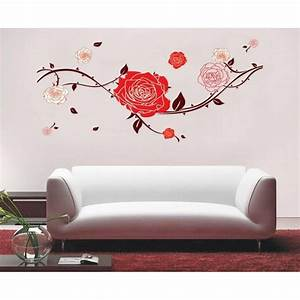 20 choices of red rose wall art wall art ideas With beautiful rose decals for walls