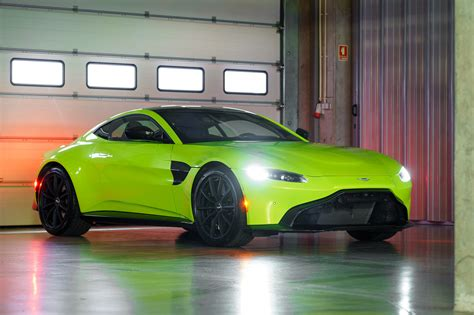 wallpaper aston martin vantage  lime essence green