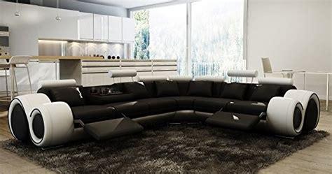 position canap canapé d 39 angle design cuir noir et blanc relax