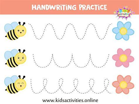 tracing lines worksheets  preschool  printable