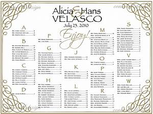 Wedding Seating Chart Seating Poster Table By
