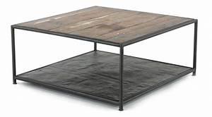 Table Basse Loft : table basse carr e industrielle ~ Teatrodelosmanantiales.com Idées de Décoration