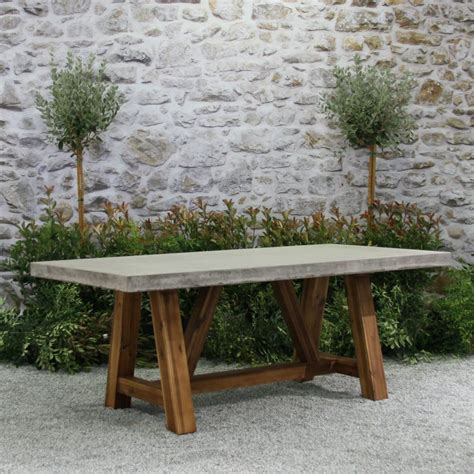 concrete top outdoor dining table concrete outdoor dining table with design hd images