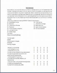 employee exit interview report template templates With employee exit interview questions template