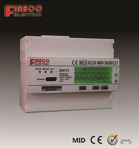Em737 10 100 A Mid Approved Directed Connected Energy Meter 3 Phase 4 Wire Meter Modbus
