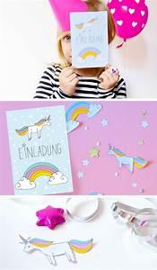 Einladung Selber Machen : diy einhorn einladung zum kindergeburtstag free printable unicorn einhorn einladung ~ Orissabook.com Haus und Dekorationen