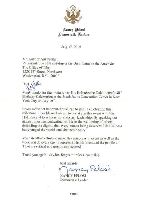letter  leader nancy pelosi