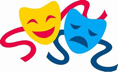 Masks Theatre Comedy Tragedy Clip Vector Mask