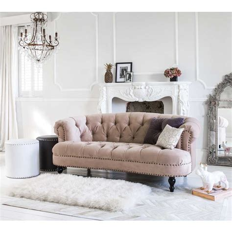Velvet Loveseat Sofa by Chablis Roses Mink Velvet Sofa Luxury Sofa