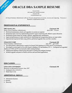 oracle dba resume example examples of resumes With dba resume sample