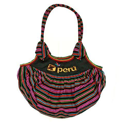 black peruvian fabric multicolor summer handbag woven