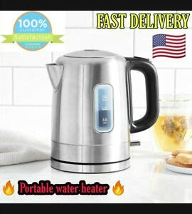 Portable coffee makers make life really easy! LOW Wattage 1L Stainless Steel Electric Kettle CORDLESS camping for tea & coffee 841710170092 | eBay