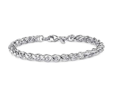 Wheat Bracelet In Sterling Silver  Blue Nile. Www Beads Com Jewelry Making. Palladium Engagement Rings. Script Rings. Maroon Rings. Ideal Diamond. Smiths Watches. Cushion Earrings. Menorah Pendant
