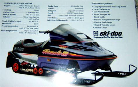 formula 3 skidoo 1996 ski doo formula 3