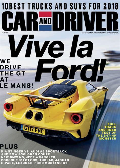 car  driver magazine intelligence independence irreverence discountmagscom