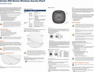 Aruba Networks Apin0324325 Wireless Access Point User