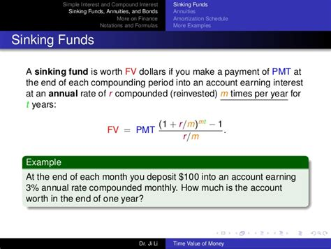 Define Annual Sinking Fund by Time Value Of Money