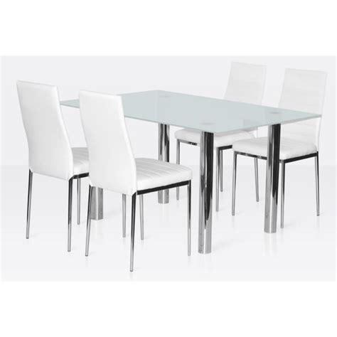 table et chaises salle à manger ensemble salle à manger 4 chaises table en verre blanc