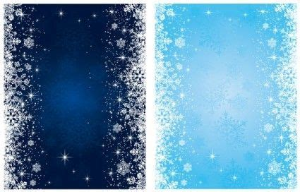 Winter Birthday Background by Blue Snowflake Background Vector Snowflake Background