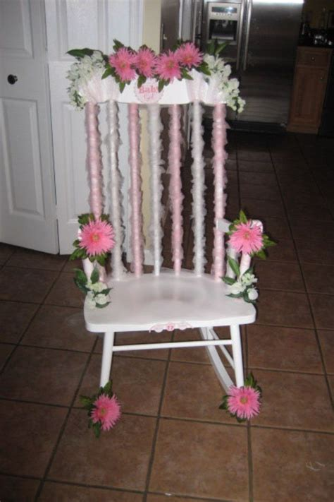 Decorating Chair For Baby Shower - baby shower decorated rocking chair my diy decor