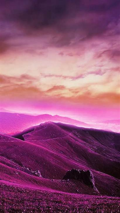 Purple Phone Mobile Wallpapers Hills Nature 2mb
