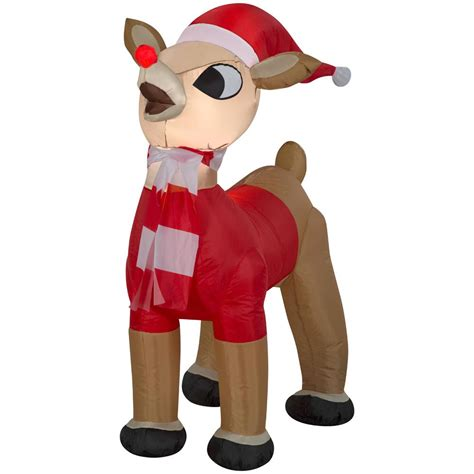 inflatable rudolph reindeer santa outfit xmas outdoor yard