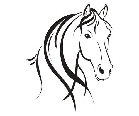 drawing pinterest horse stenciling