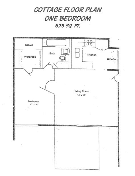 1 Bedroom Cottage Floor Plans 1 Bedroom Mobile Homes, One