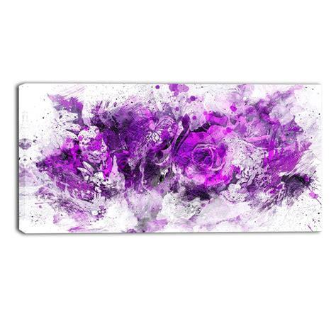 ideas  purple wall art canvas
