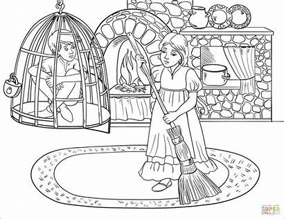 Gretel Hansel Coloring Pages Cell Printable While