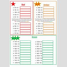 Expanding Brackets Worksheet By Floppityboppit  Teaching Resources