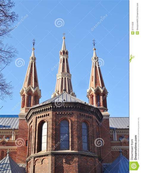 Die Römischkatholische Kirche In Lodz Lizenzfreie