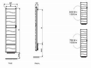 Radiateur Largeur 50 Cm : radiateur s che serviettes organza atlantic econology ~ Premium-room.com Idées de Décoration