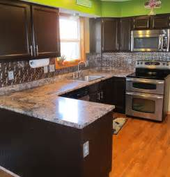 how to apply backsplash in kitchen cabinet transformations submitted by adb