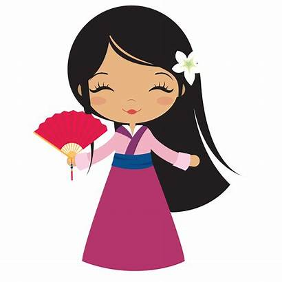 Princess Disney Clipart Mulan Cartoon Clip Doll