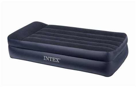 intex air mattress intex deluxe pillow rest raised comfort review