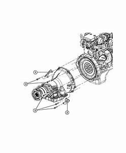 Dodge Ram 3500 Bracket  Transmission Line  Engine  Diesel