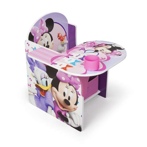delta children minnie desk chair with storage