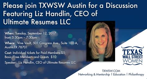 Ultimate Resumes Llc by Join Txwsw For A Resume Workshop Featuring