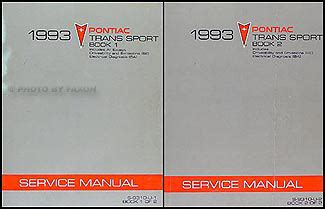 1993 pontiac trans sport van repair shop manual original 2 volume set