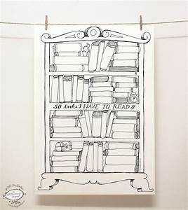 DOODLE Books to Read Planner List Organizer Printable Letter